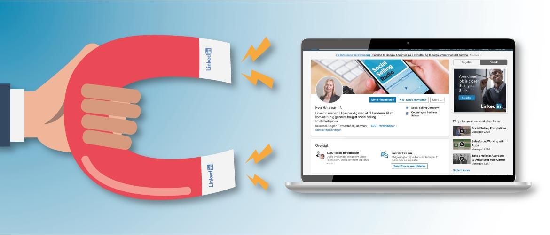 Blogindlæg med 10 ting du kan gøre for at få din LinkedIn profil til at tiltrække kunder