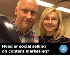 Podcast om hvad social selling og content marketing er for en størrelse