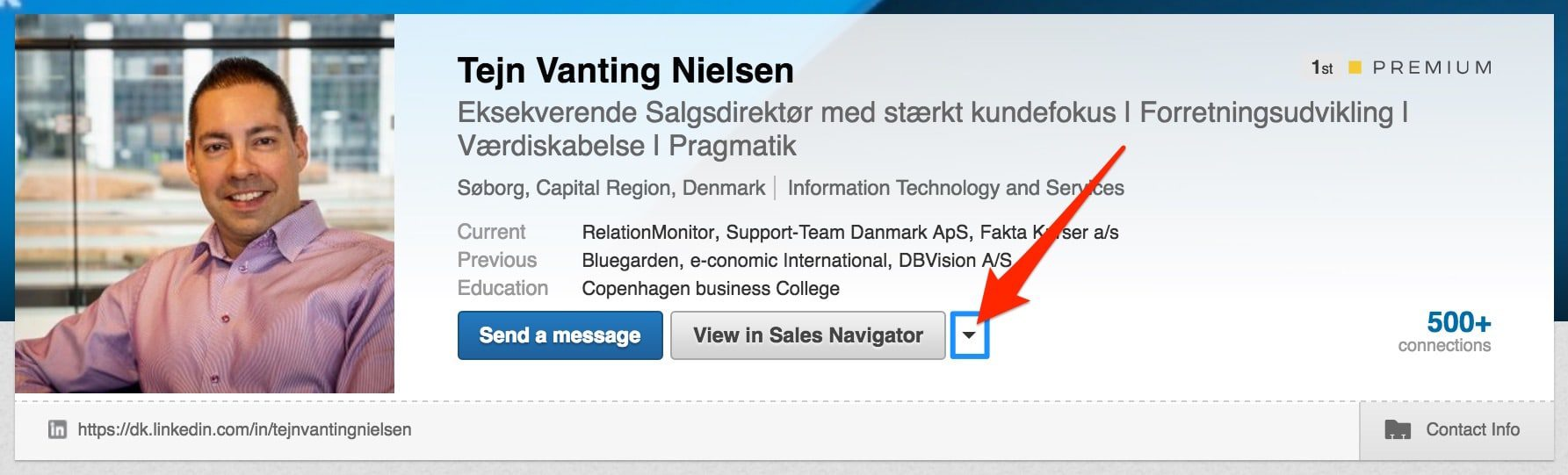 Start med at give andre i dit LinkedIn netværk  en anbefaling