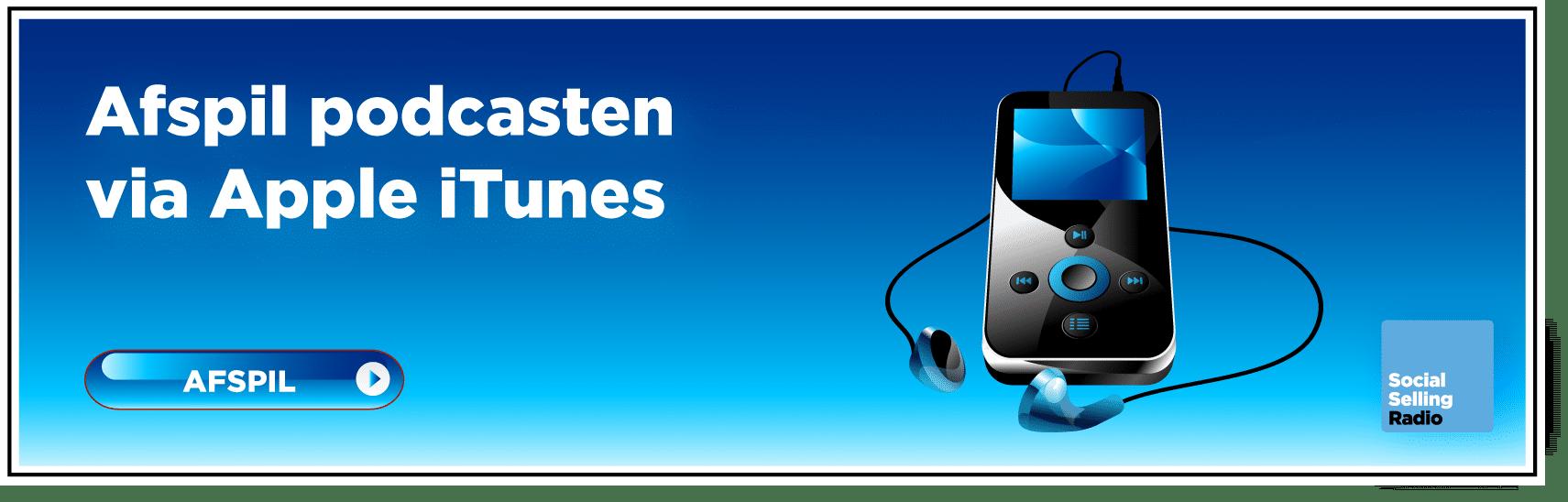Afspil podcasteb via iTunes