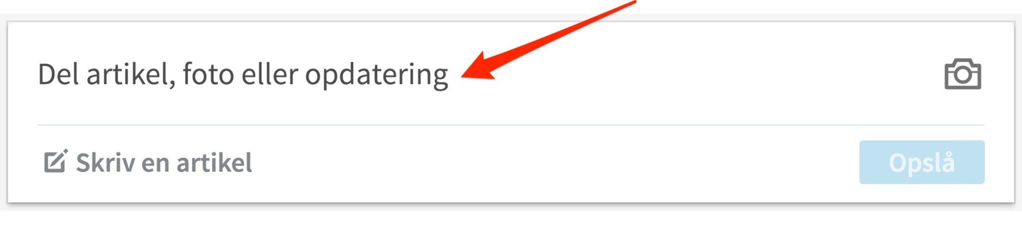 Blogindlæg om forskellen på en statusopdatering og Pulse blogindlæg på LinkedIn