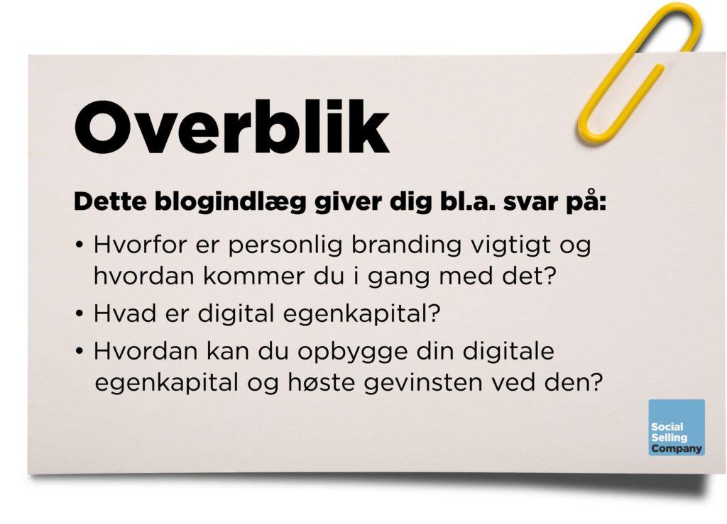 Blogindlæg og podcast om at personlig branding er et must i social selling