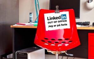 """Blogindlæg om hvordan du kan lave """"Out of Office"""" på LinkedIn"""