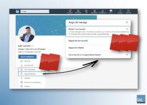 Blogindlæg om hvordan du kan få gult eller rødt kort på LinkedIn