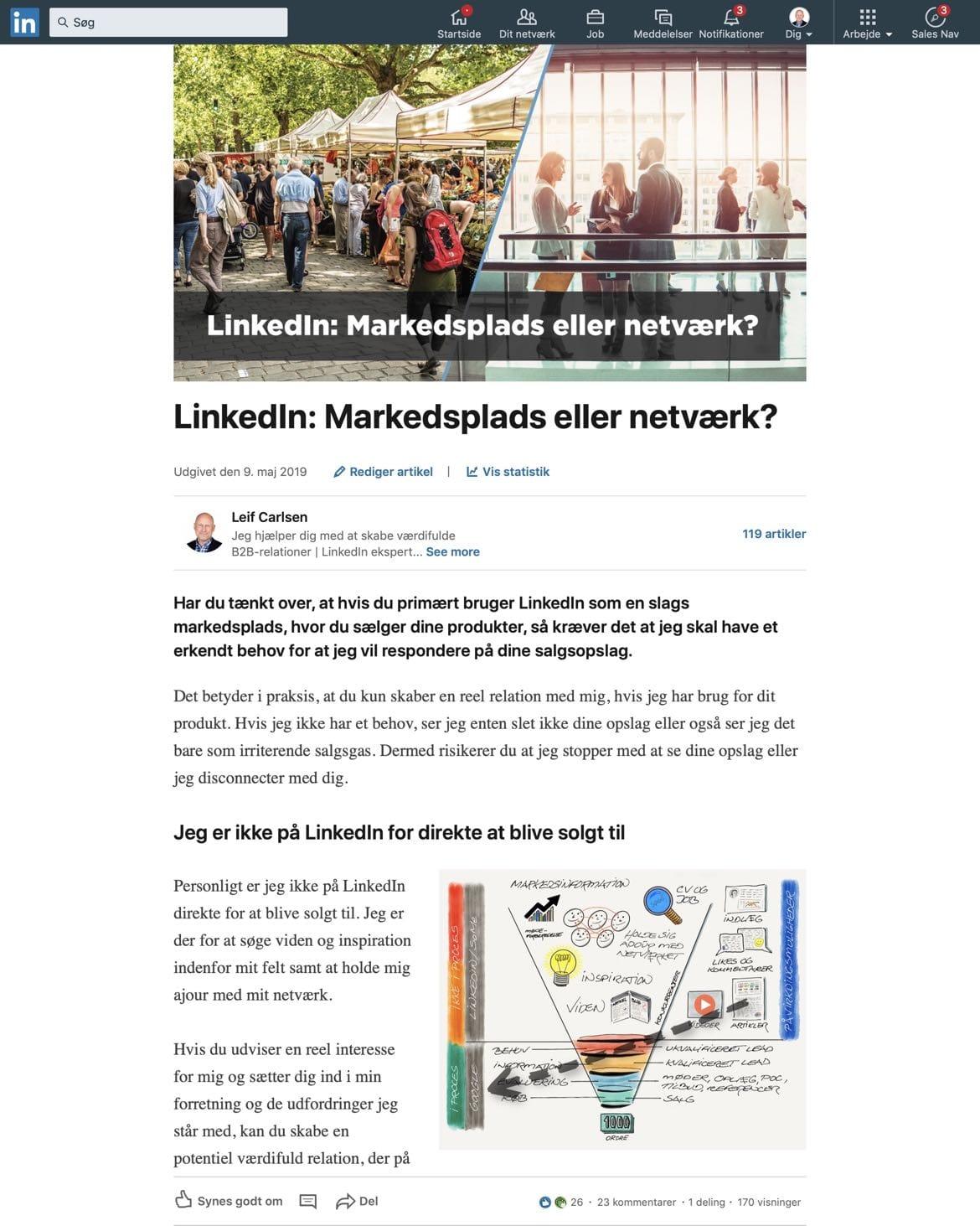 Blogindlæg om hvornår en visning tæller på LinkedIn