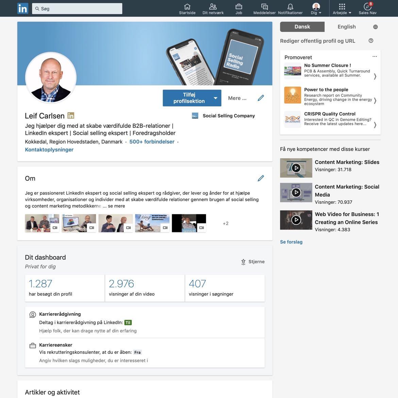 Blogindlæg om hvad du kan bruge din LinkedIn profil til