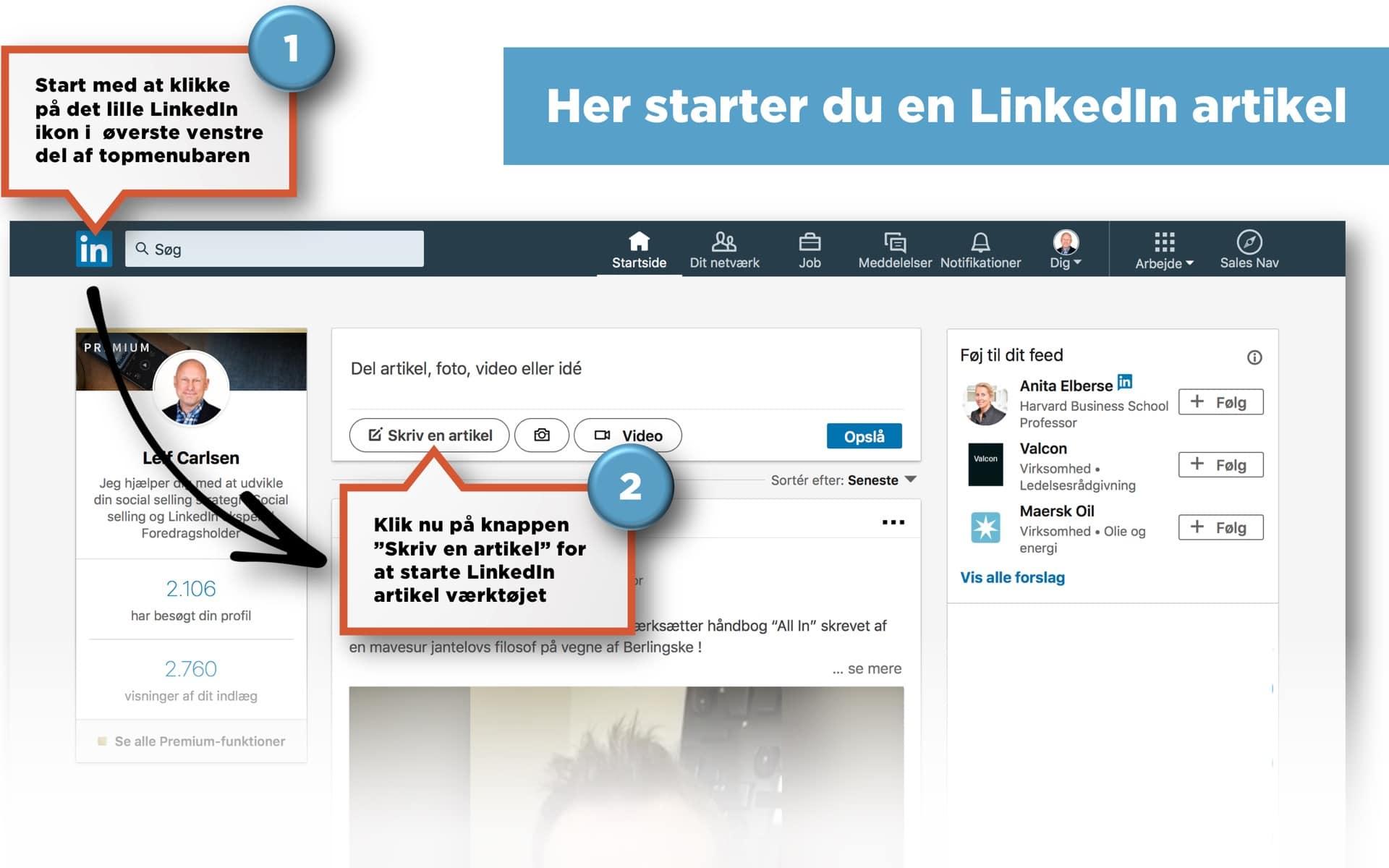 Blogindlæg om hvad LinkedIn artikler er for en størrelse