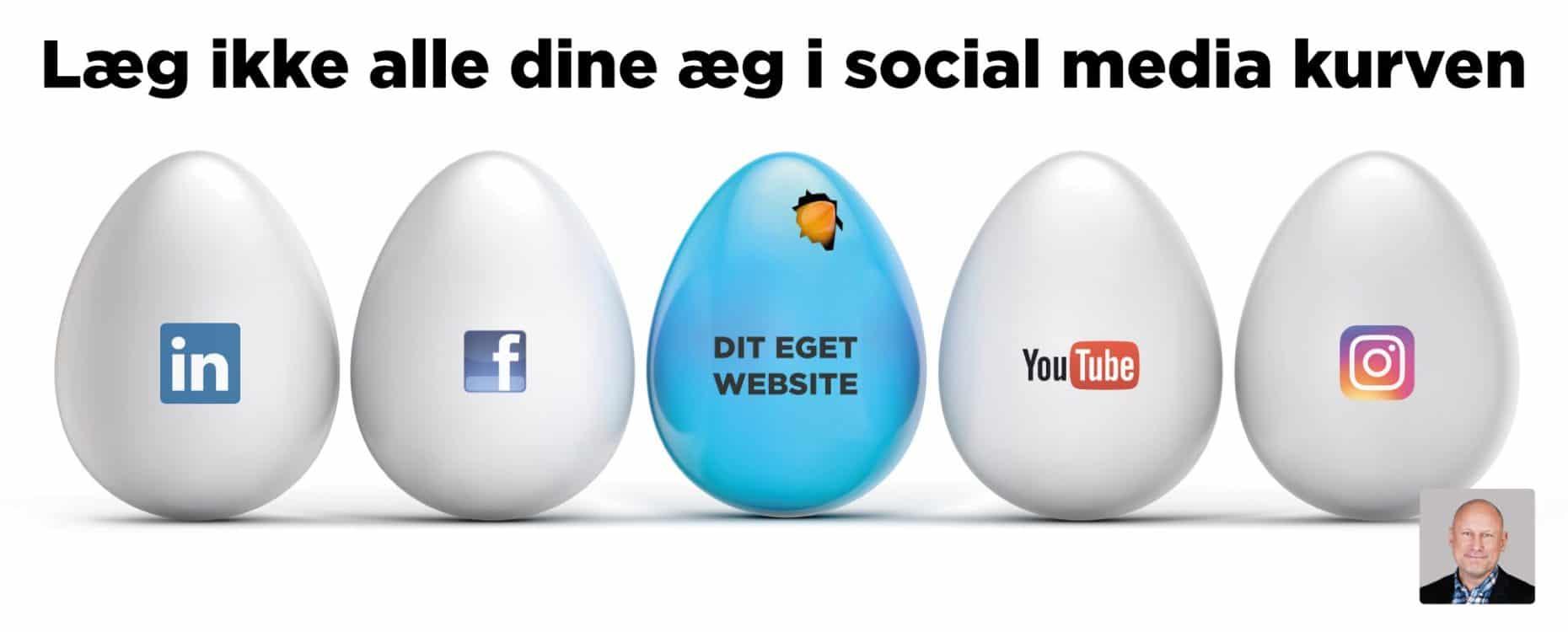 Blogindlæg om betydningen af, at du ikke må lægge alle dine æg i social media kurven