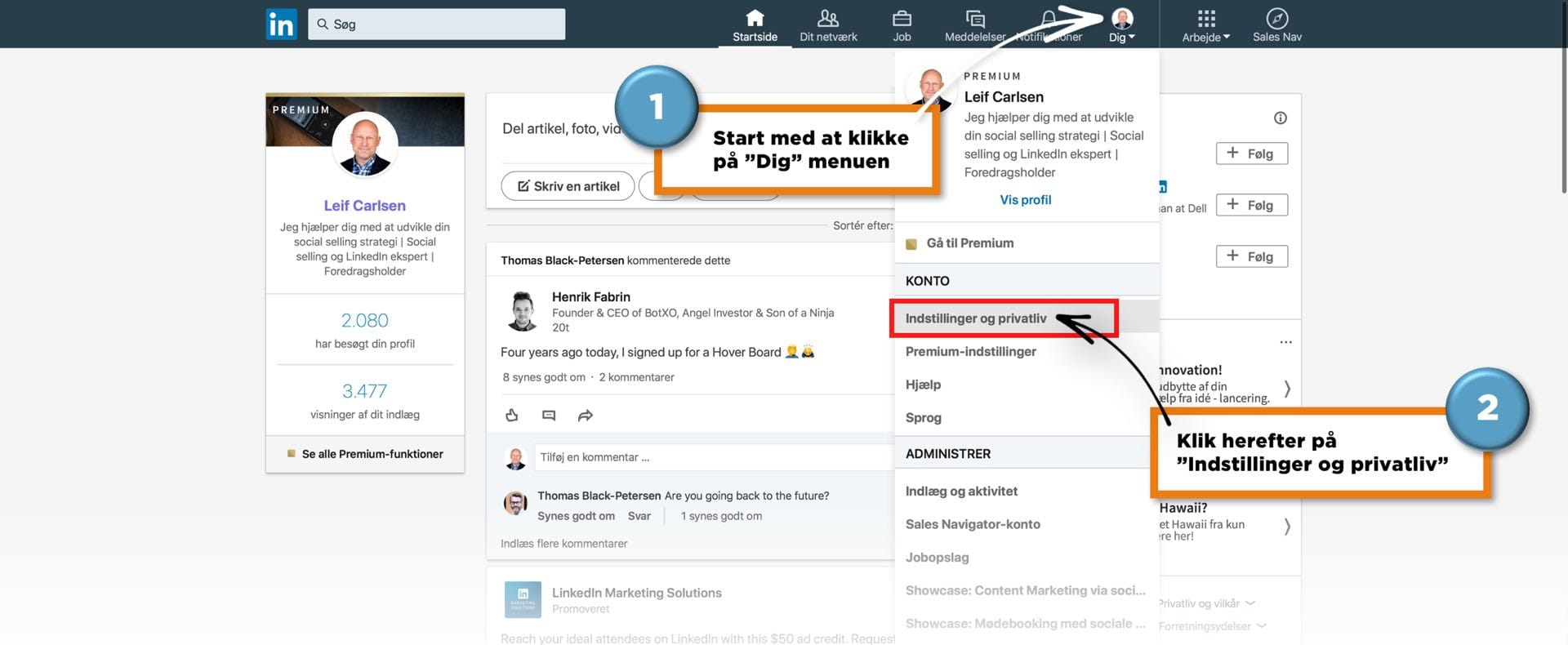 Den ultimative guide til en professionel LinkedIn profil
