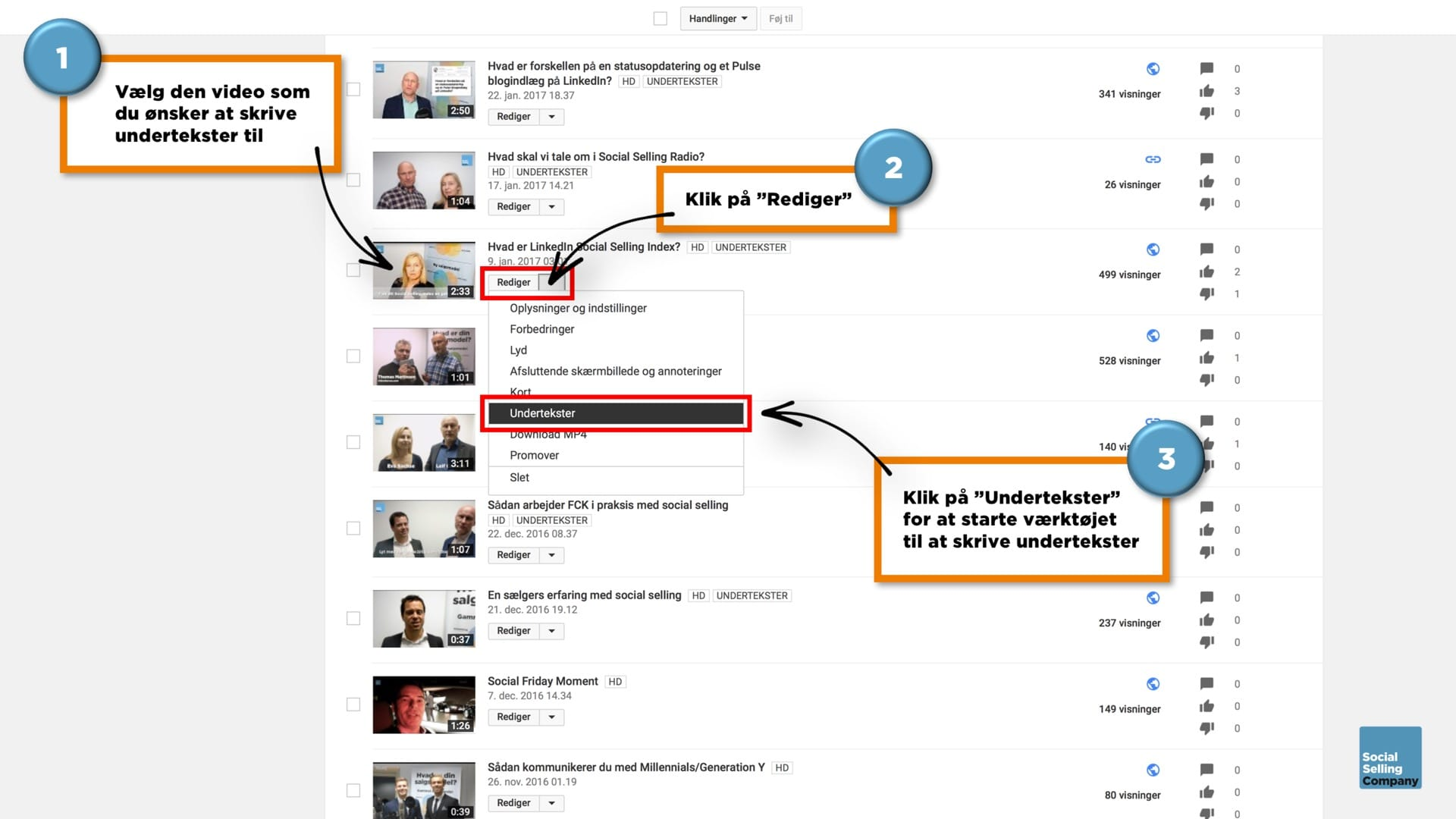 Blogindlæg om hvordan du får undertekster på videoer på LinkedIn