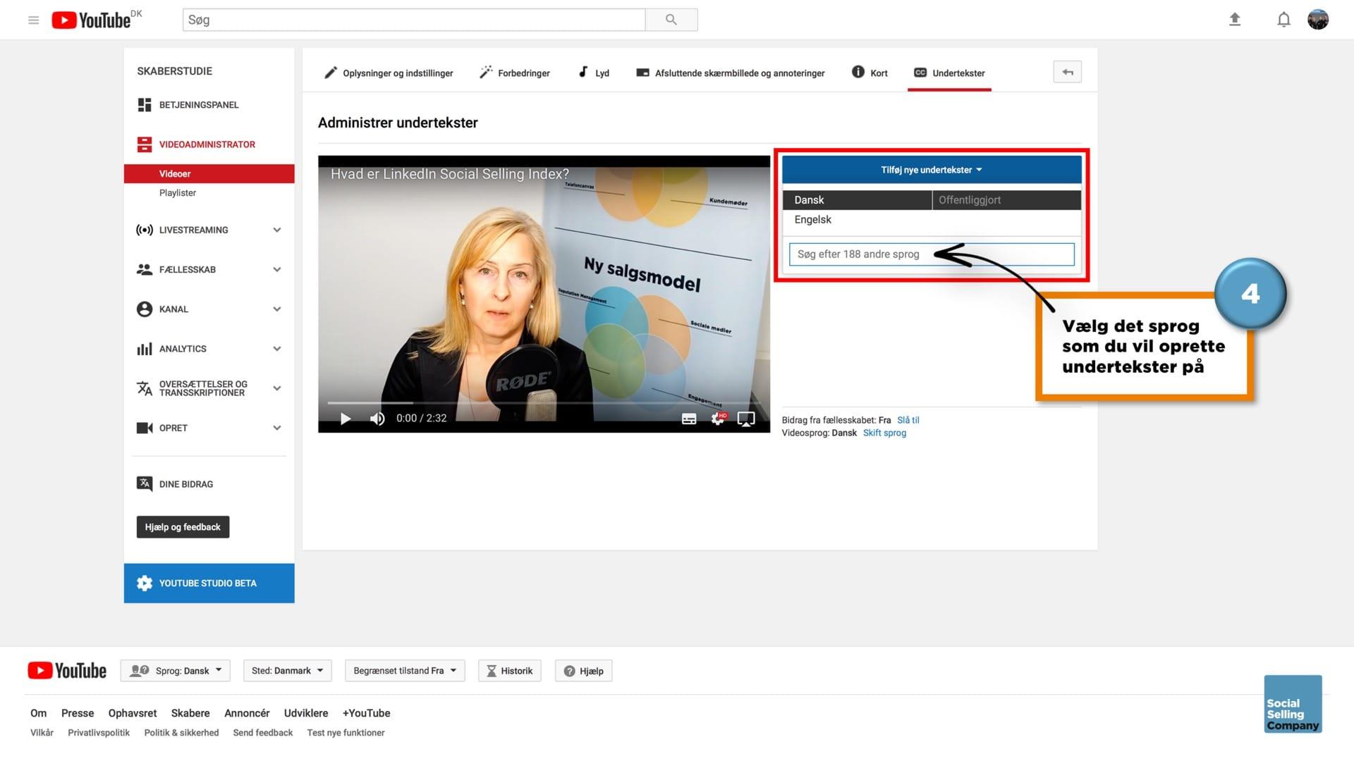 Sådan får du undertekster på videoer på LinkedIn