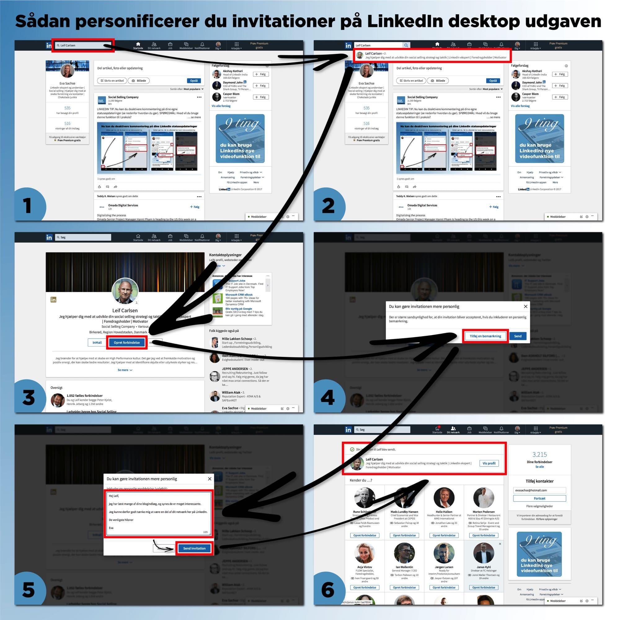Blogindlæg om hvordan du kan personificere dine LinkedIn invitationer