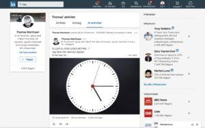 Screendump af Thomas Martinsens opslag