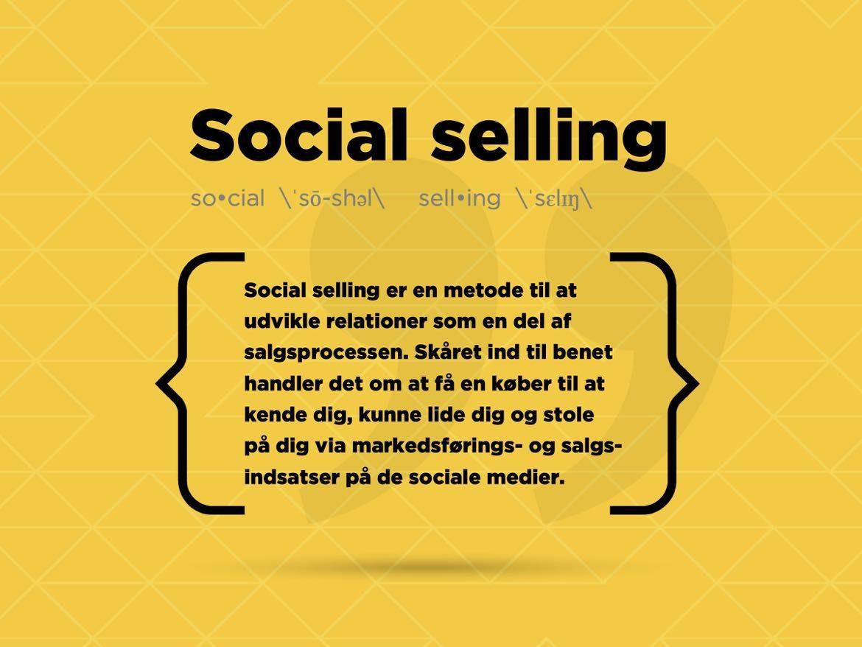 Beskrivelse af definitionen på social selling