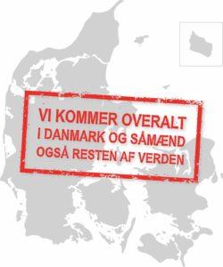 Information om at vi kommer over alt i Danmark for at afholde foredrag